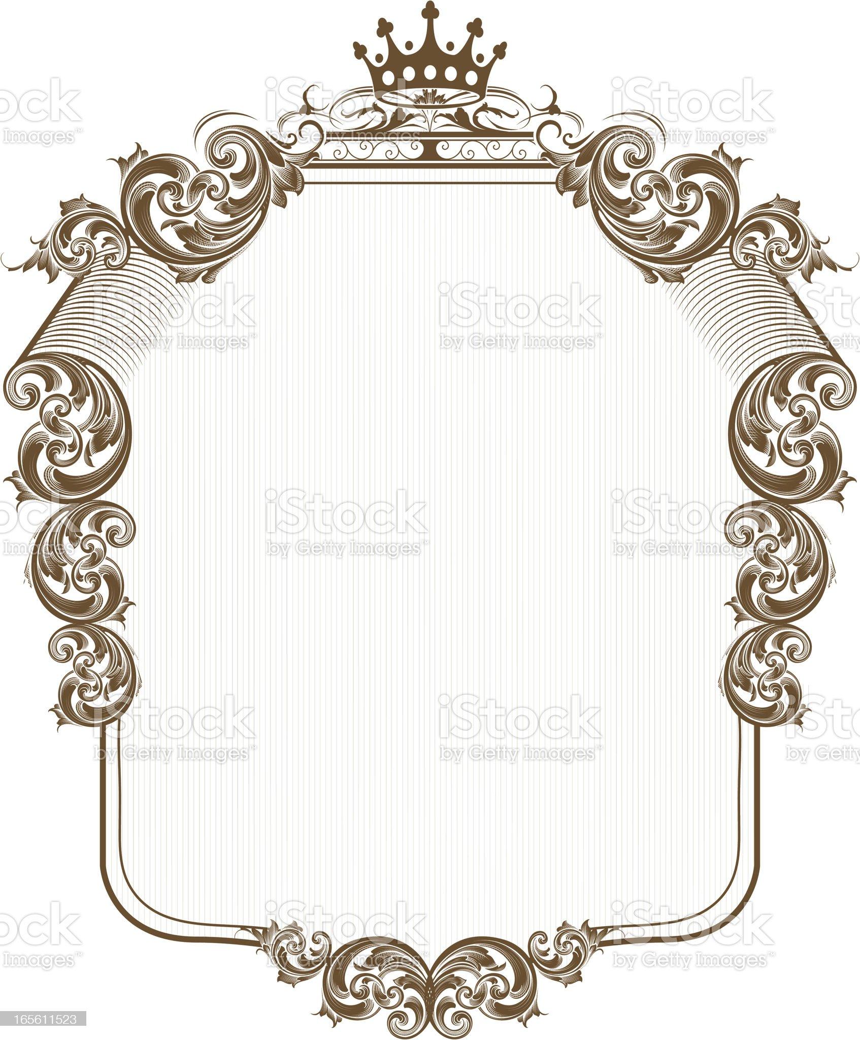 Scrolling Shield royalty-free stock vector art