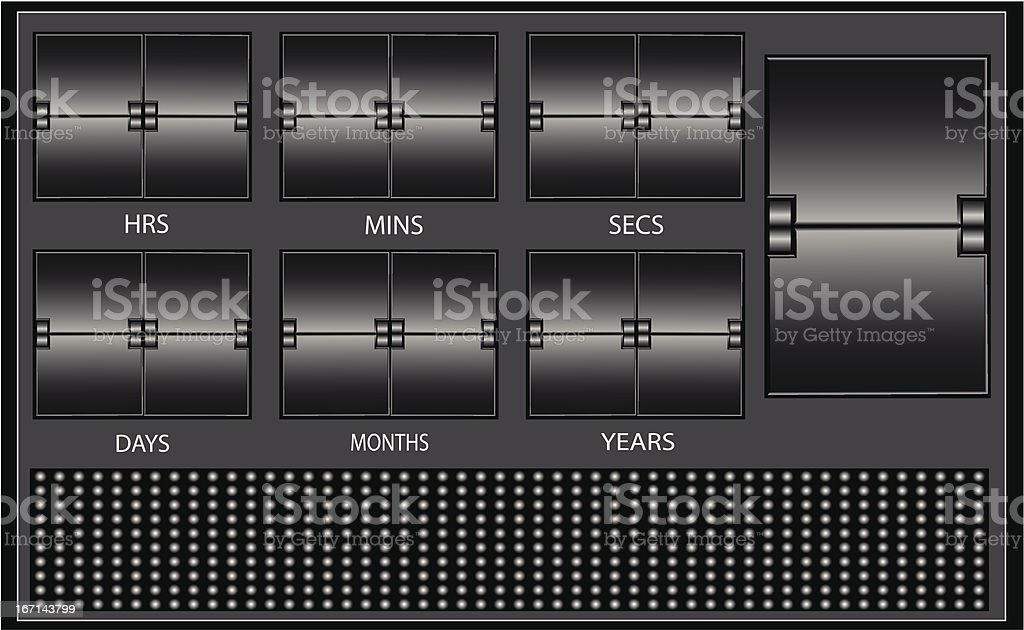 scrolling text royalty-free stock vector art
