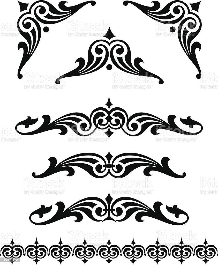 Scroll/Ornament Set royalty-free stock vector art