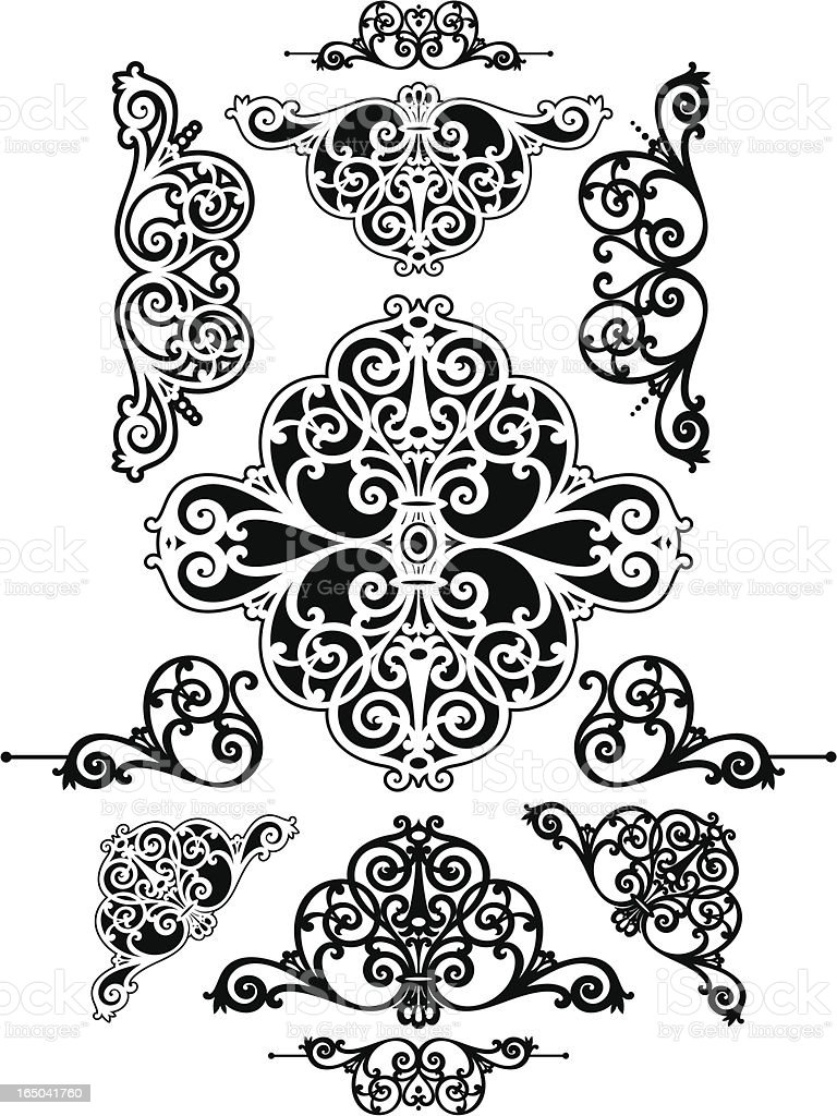 Scrolls and Corners royalty-free stock vector art