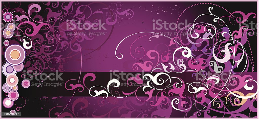Scrolls Background vector art illustration