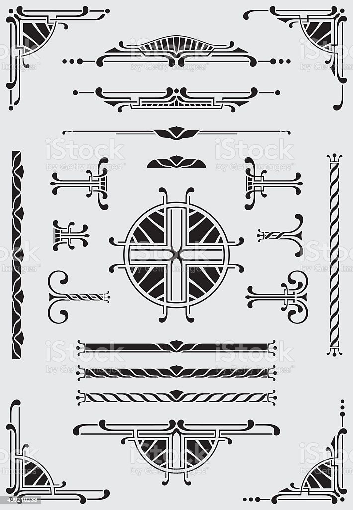 Scrolls, Dididers & Corners - Illustration vector art illustration