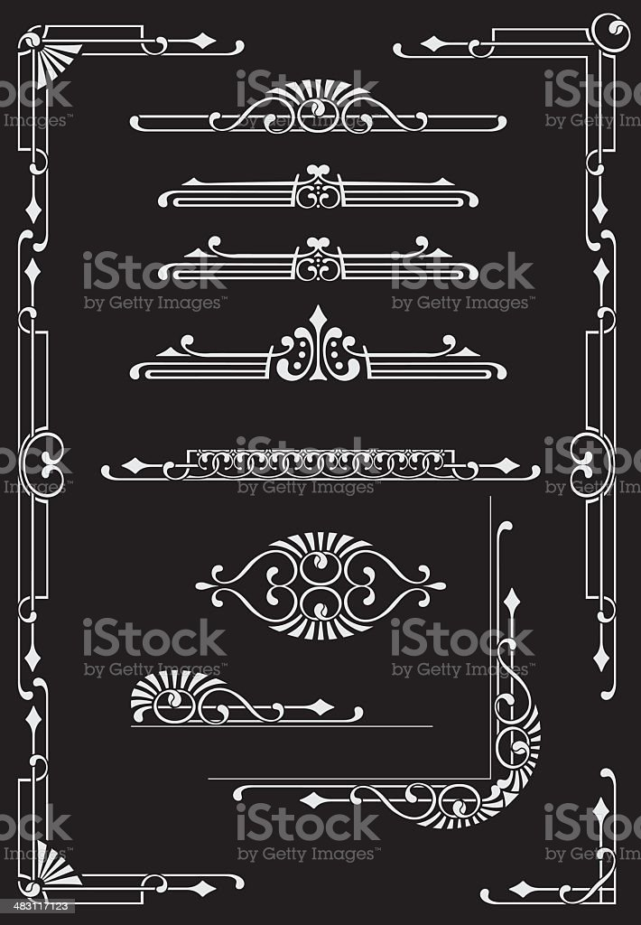 Scrolls, Dididers & Corners royalty-free stock vector art
