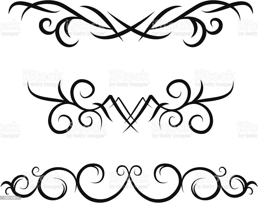 Scrolls ll (vector) royalty-free stock vector art