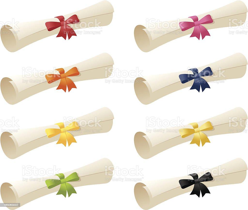 Scrolls & Ribbons - incl. jpeg royalty-free stock vector art
