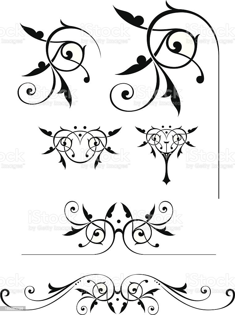 Scrolls royalty-free stock vector art