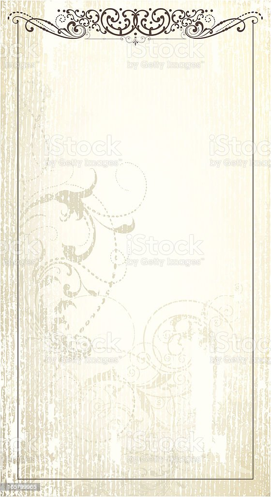 Scrollwork Grunge Frame page royalty-free stock vector art