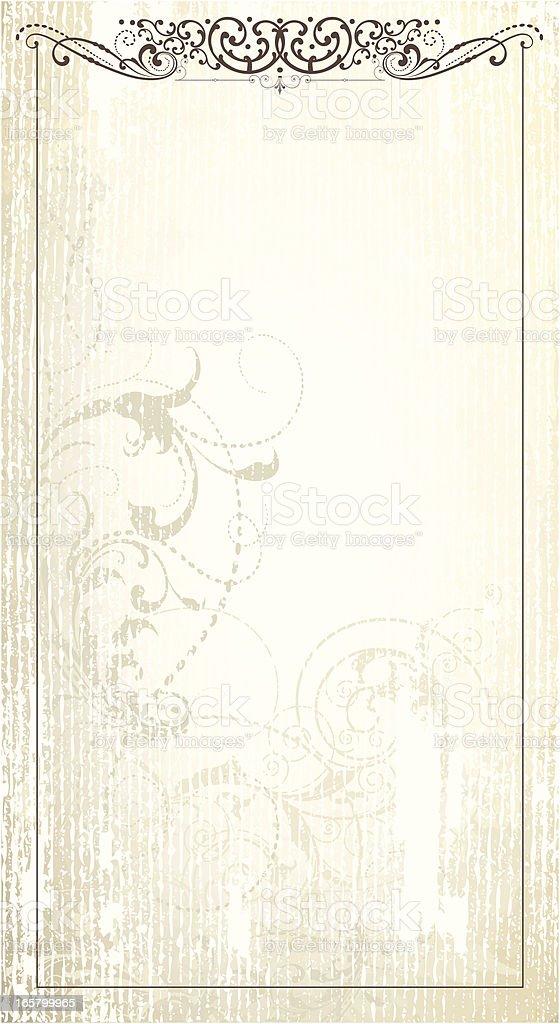 Scrollwork Grunge Frame page vector art illustration