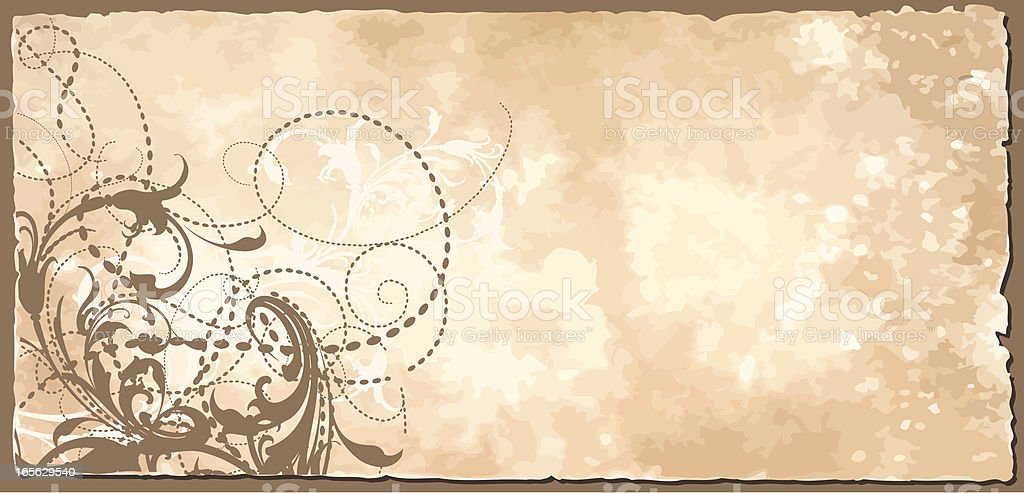 Scrollwork Rustic Banner royalty-free stock vector art