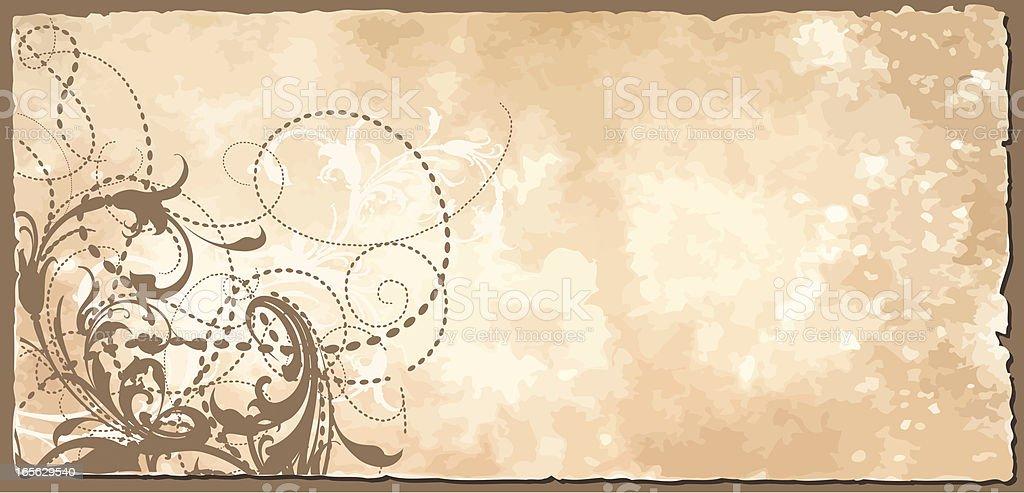 Scrollwork Rustic Banner vector art illustration