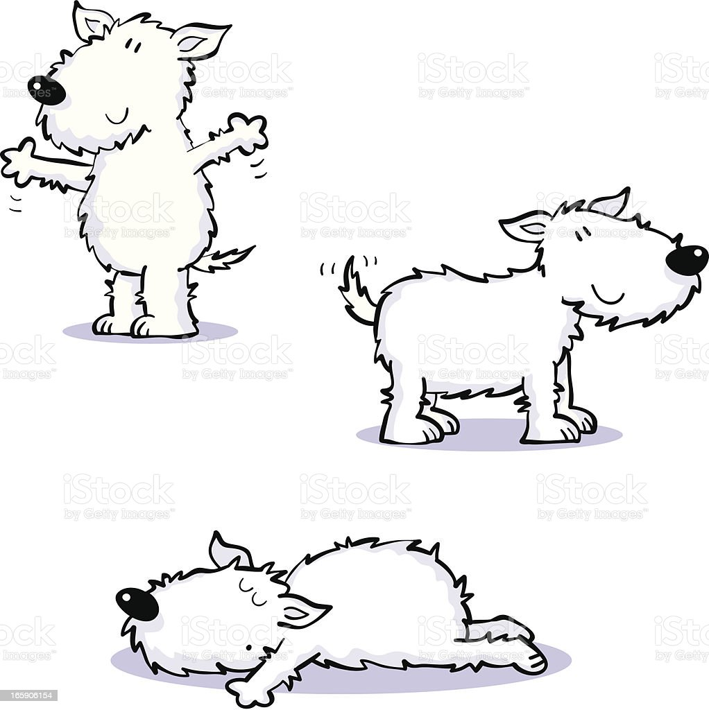 Scruffy dogs royalty-free stock vector art
