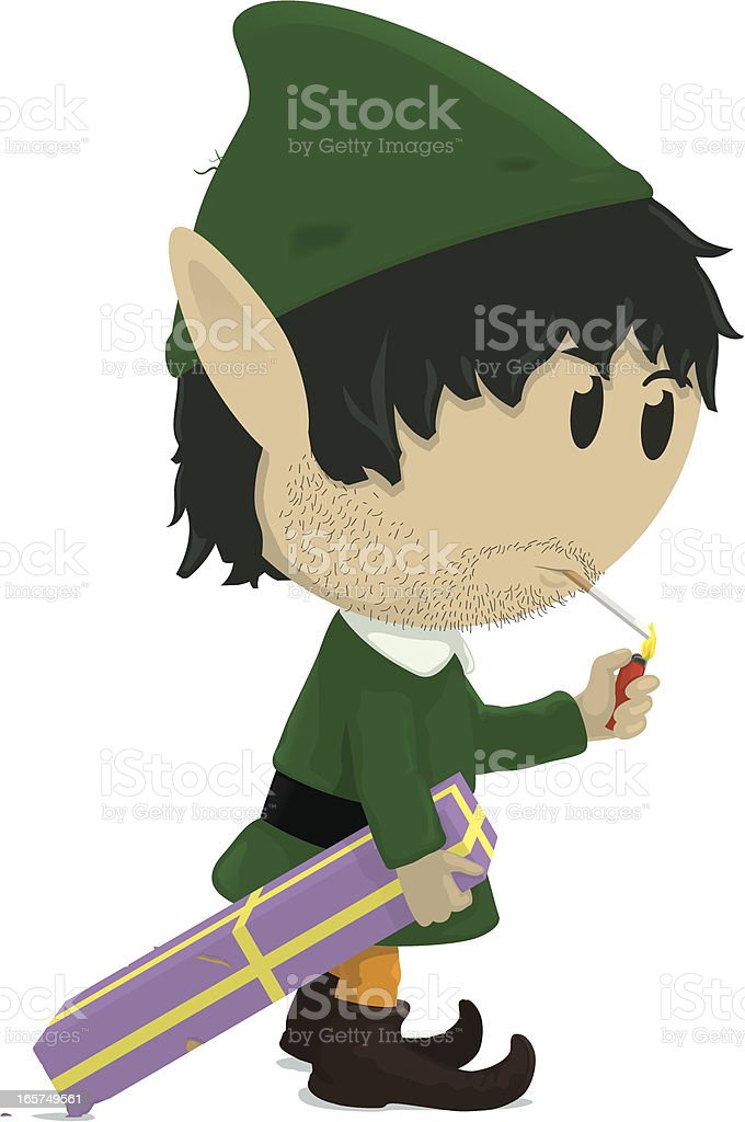 Scruffy Elf royalty-free stock vector art