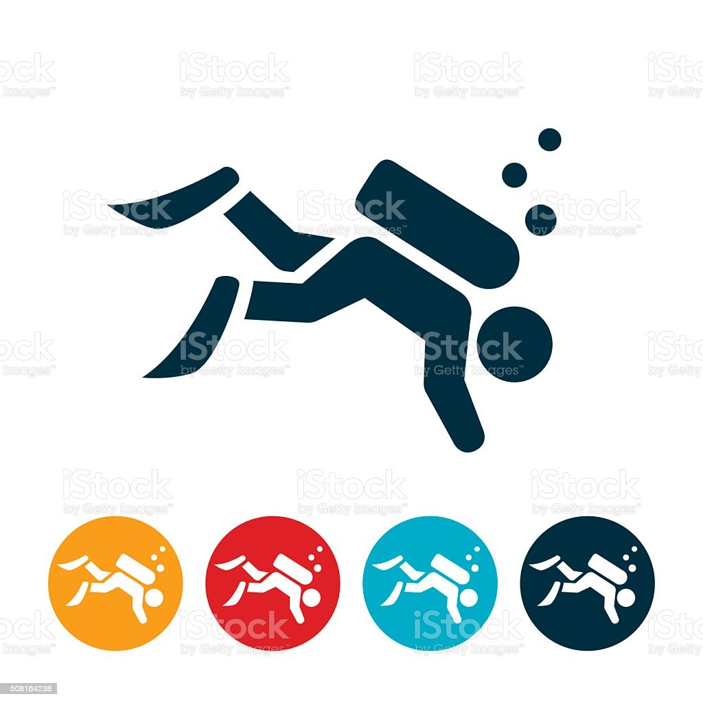 Scuba Diving Icon vector art illustration