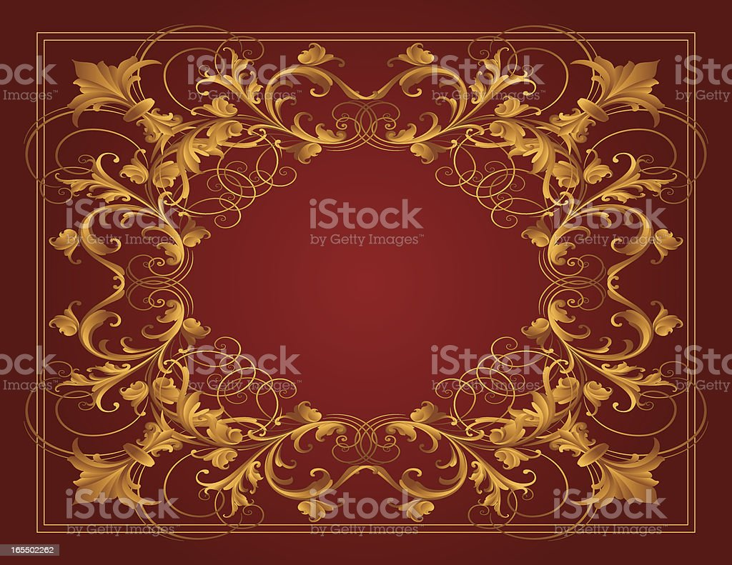 Sculpted Gold Frame royalty-free stock vector art