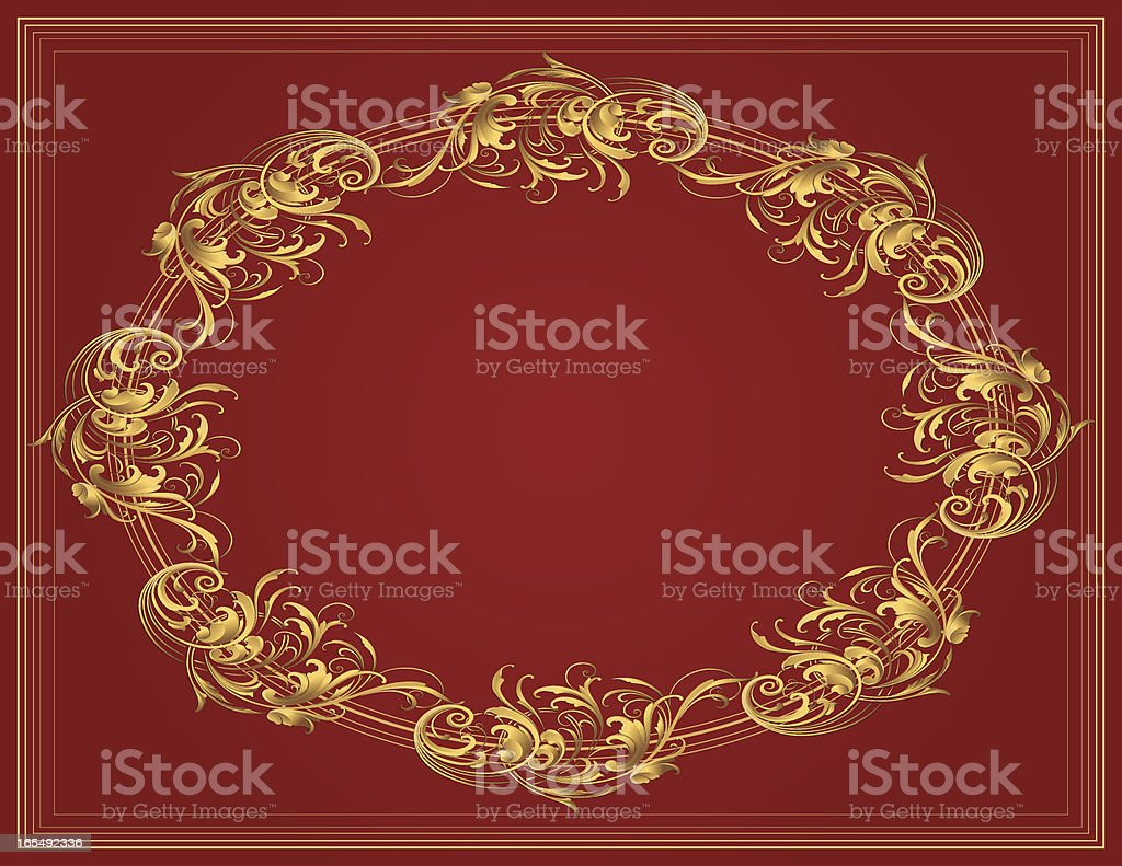 Sculpted Oval Arabesque royalty-free stock vector art