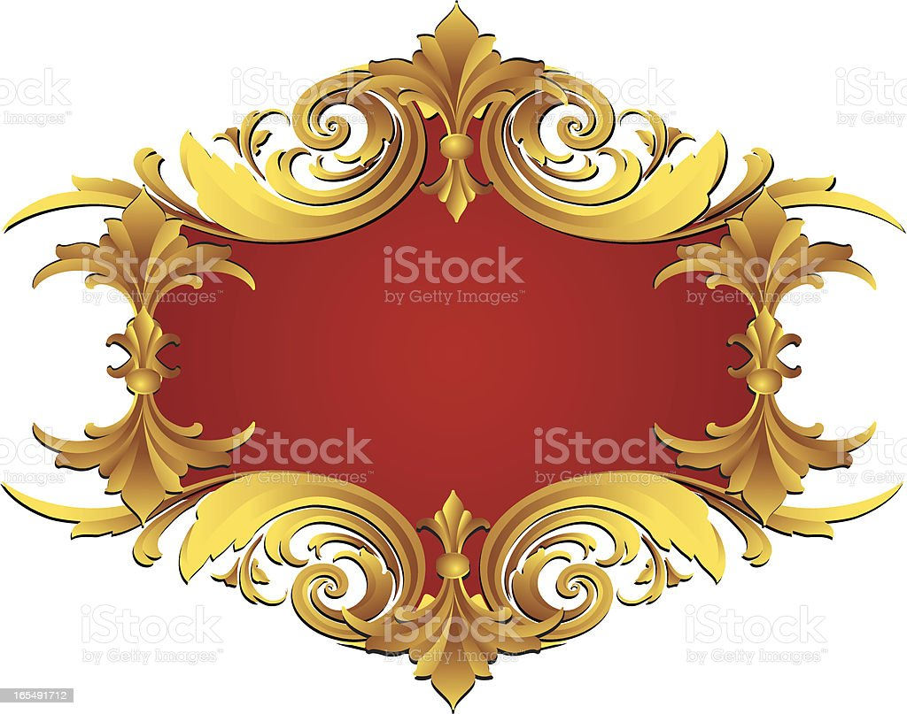 Sculpted Scroll Banner royalty-free stock vector art