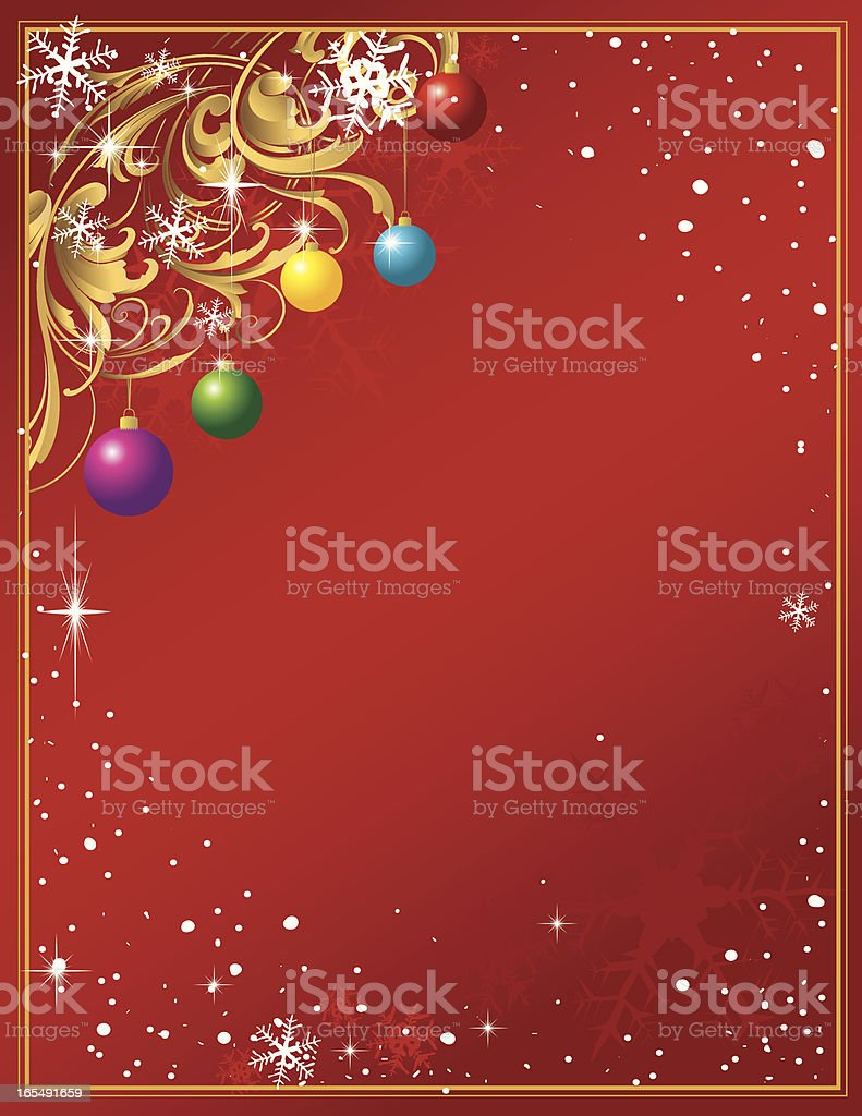 Sculpted Scroll Christmas Page royalty-free stock vector art