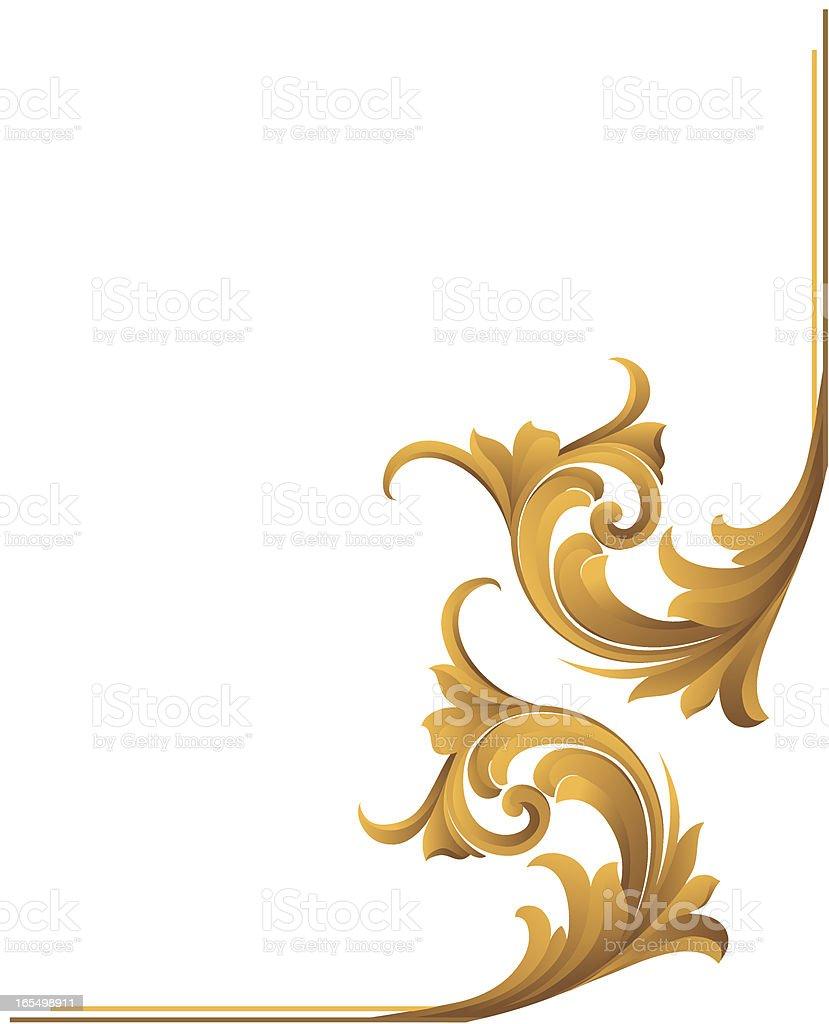 Sculpted Scroll Corner royalty-free stock vector art