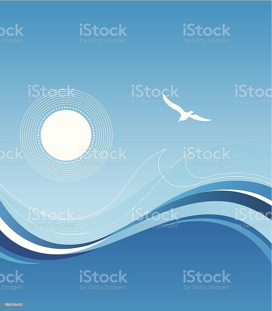 Sea and sun I royalty-free stock vector art