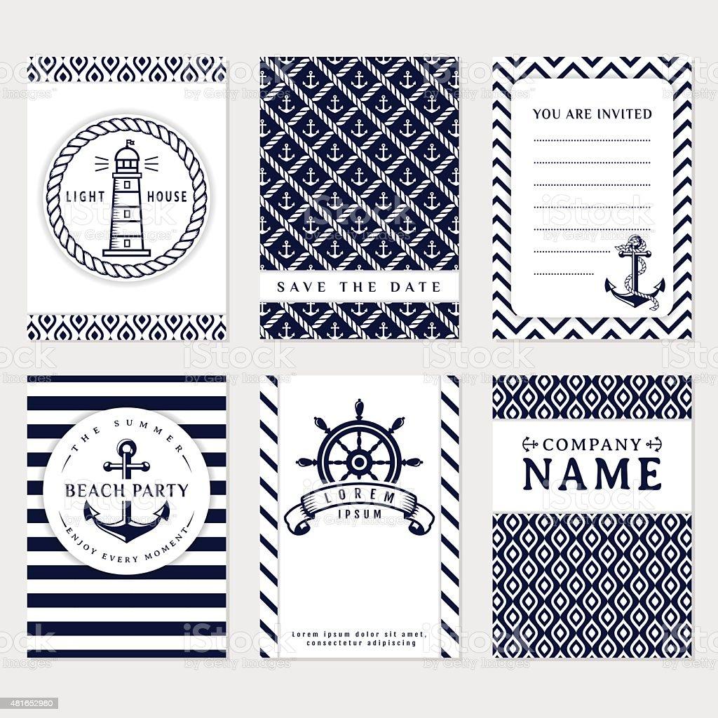 Sea banners. Vector card templates. vector art illustration