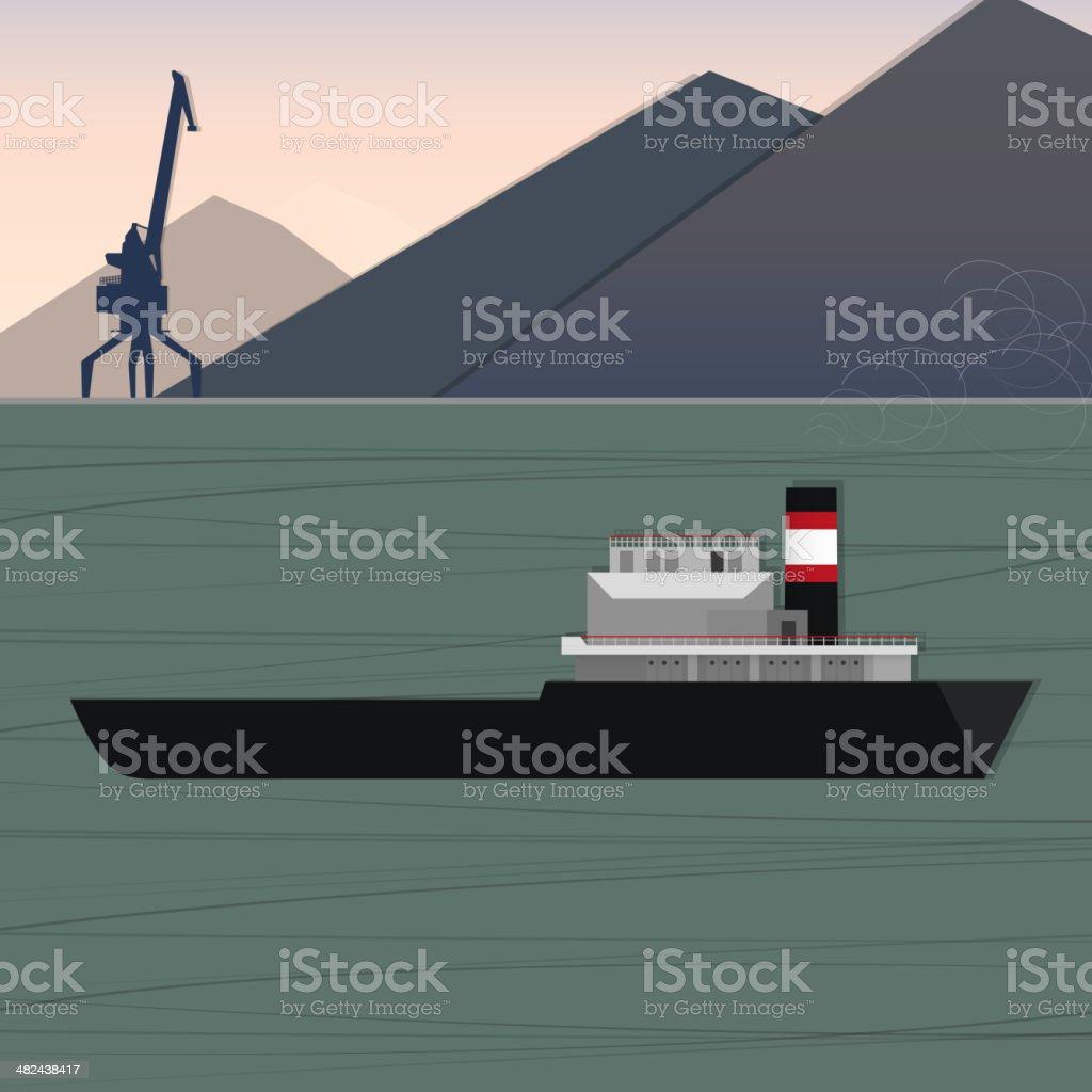 sea cargo vessel royalty-free stock vector art