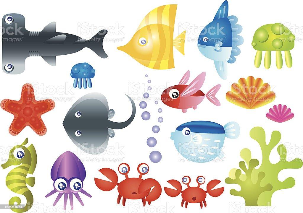 Sea Creature Collection vector art illustration
