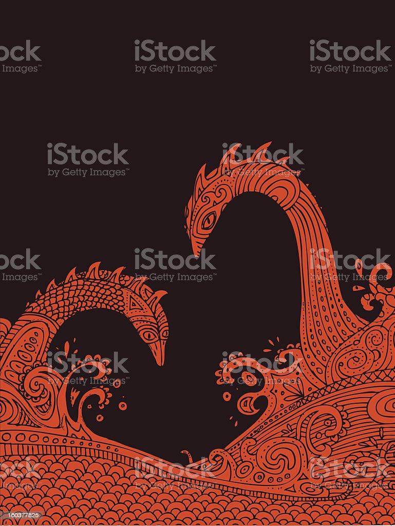 Sea dragons royalty-free stock vector art