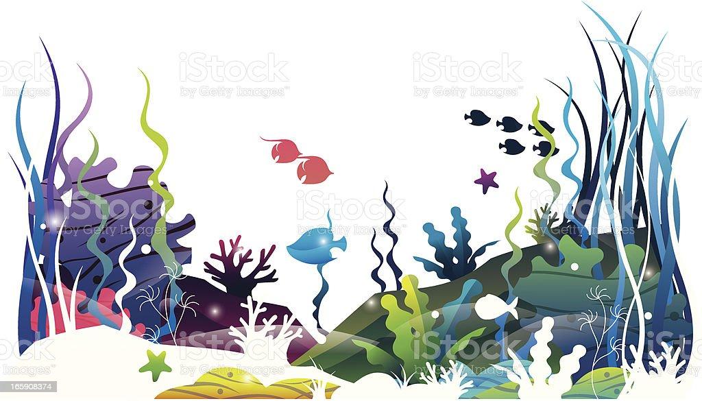 sea floor world vector art illustration