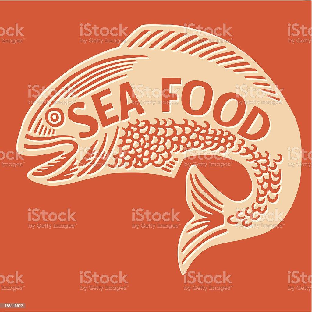 Sea Food Fish royalty-free stock vector art