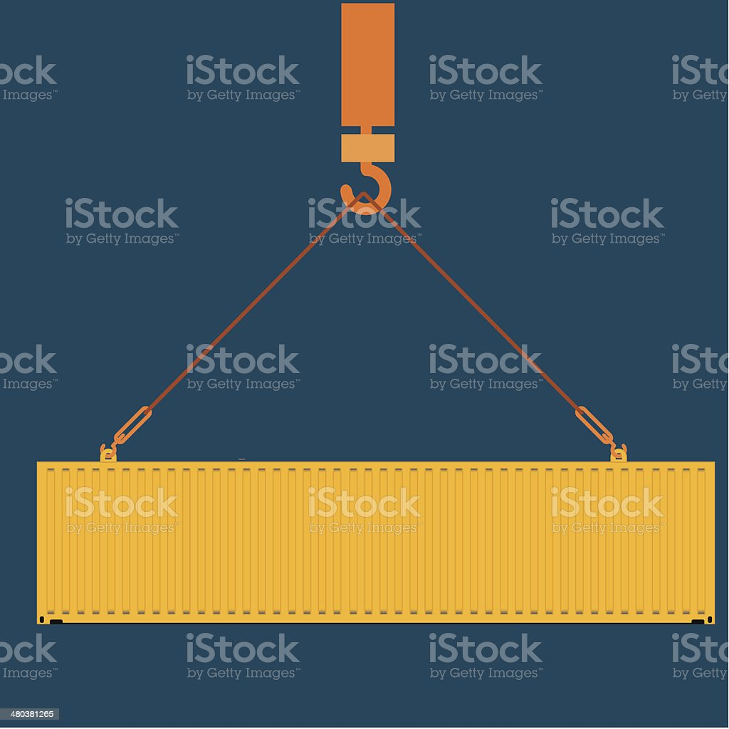 sea freight containers vector illustration vector art illustration