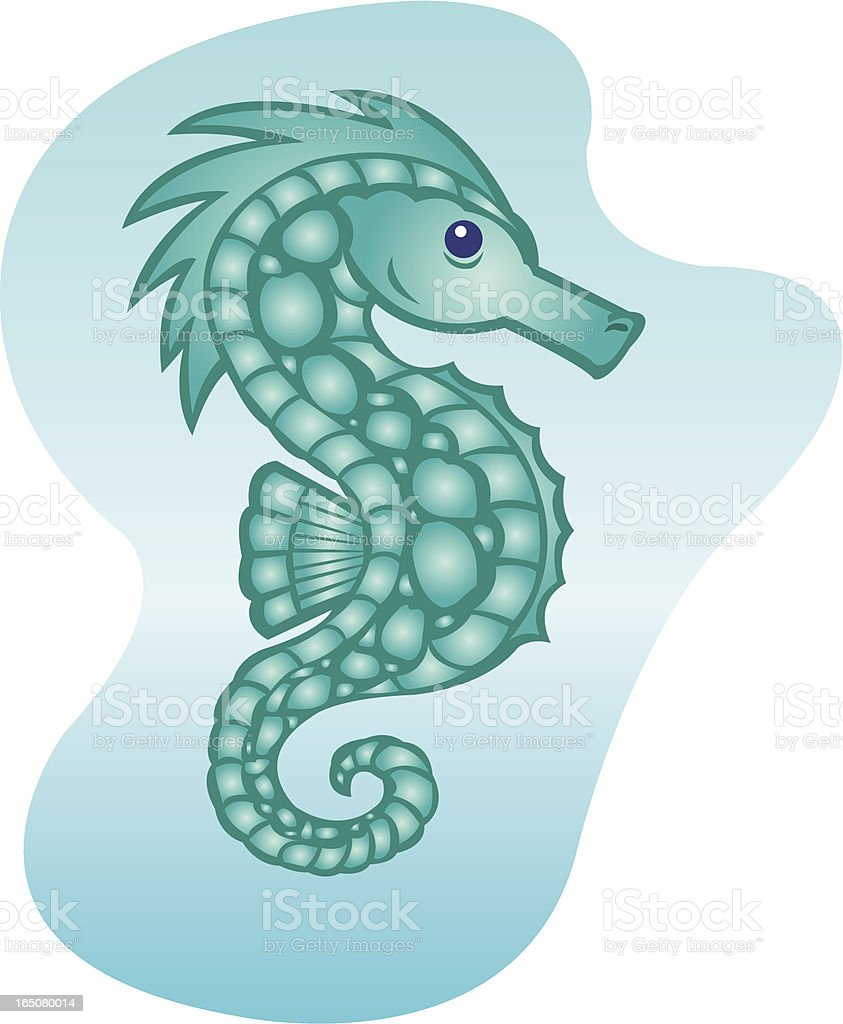 Sea Horse - Cartoon royalty-free stock vector art
