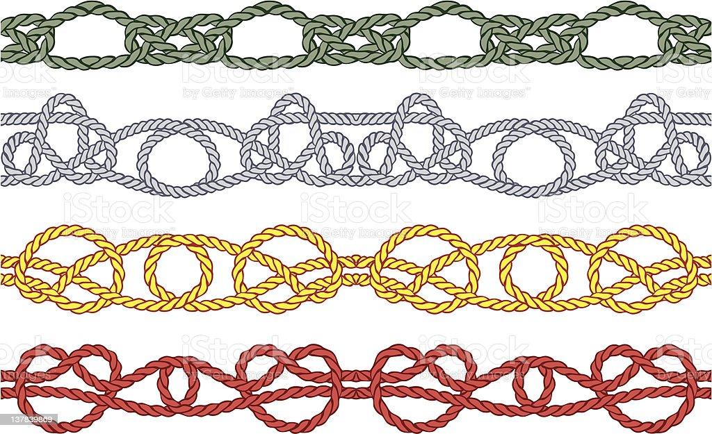 Sea knot pattern royalty-free stock vector art