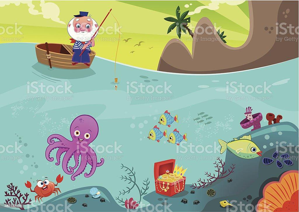 Sea Life royalty-free stock vector art