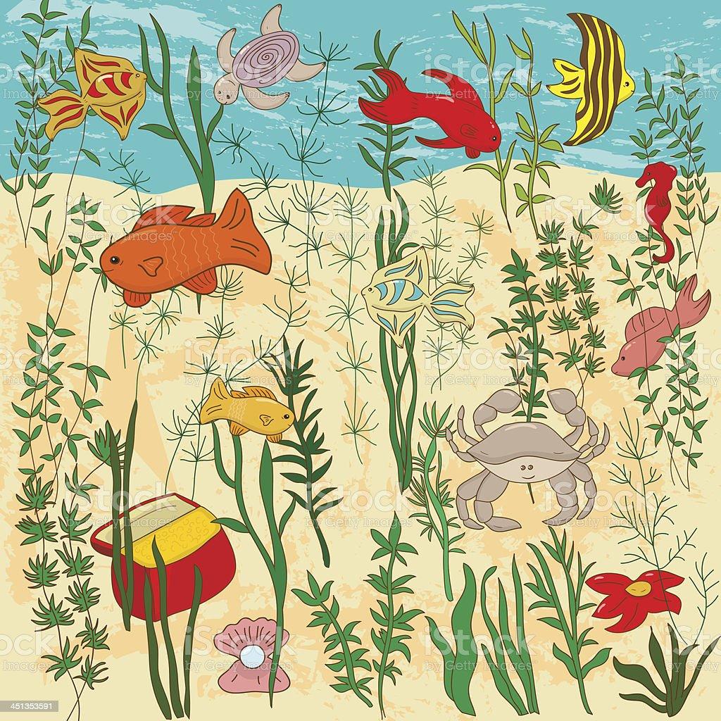 Sea life vector illustration vector art illustration
