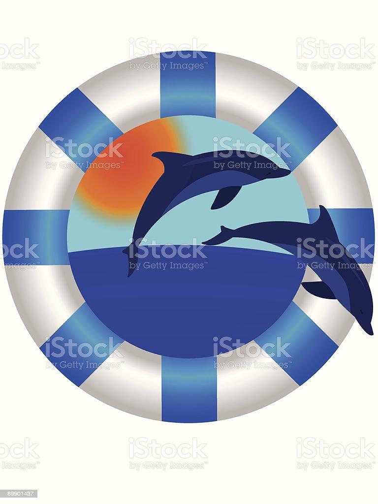 sea lifebuoy ring royalty-free stock vector art