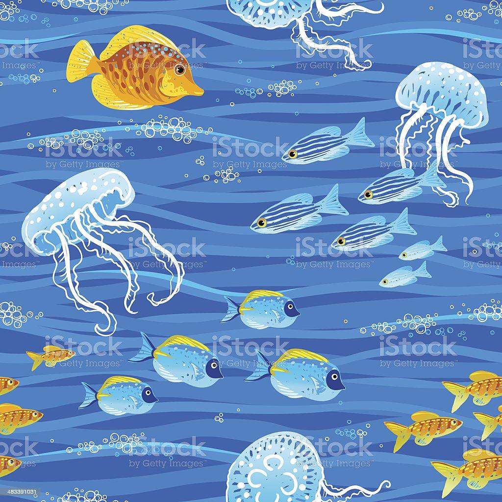 Sea pattern. royalty-free stock vector art