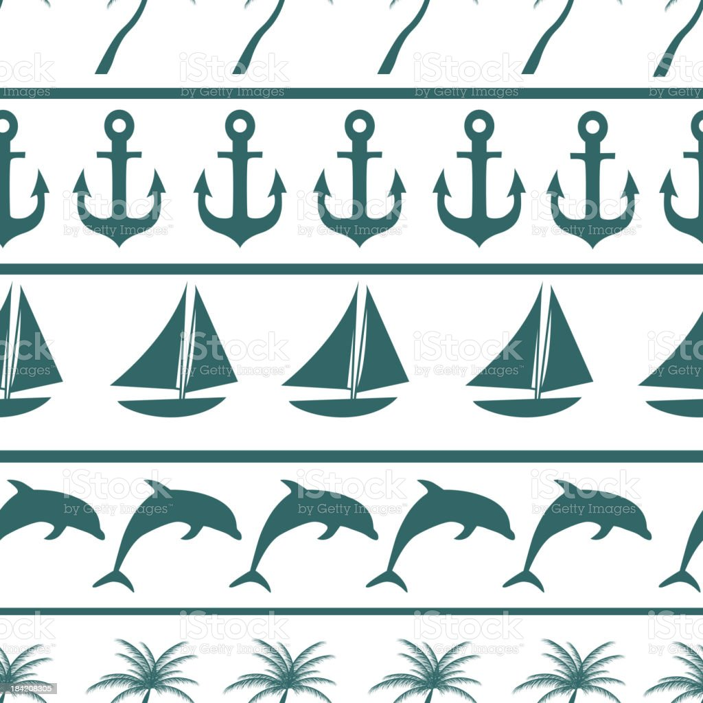 Sea seamless pattern background vector ilustration royalty-free stock vector art