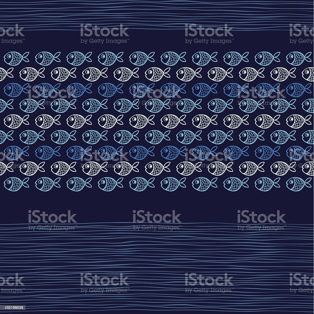 Sea seamless   pattern with   fishes. royalty-free stock vector art