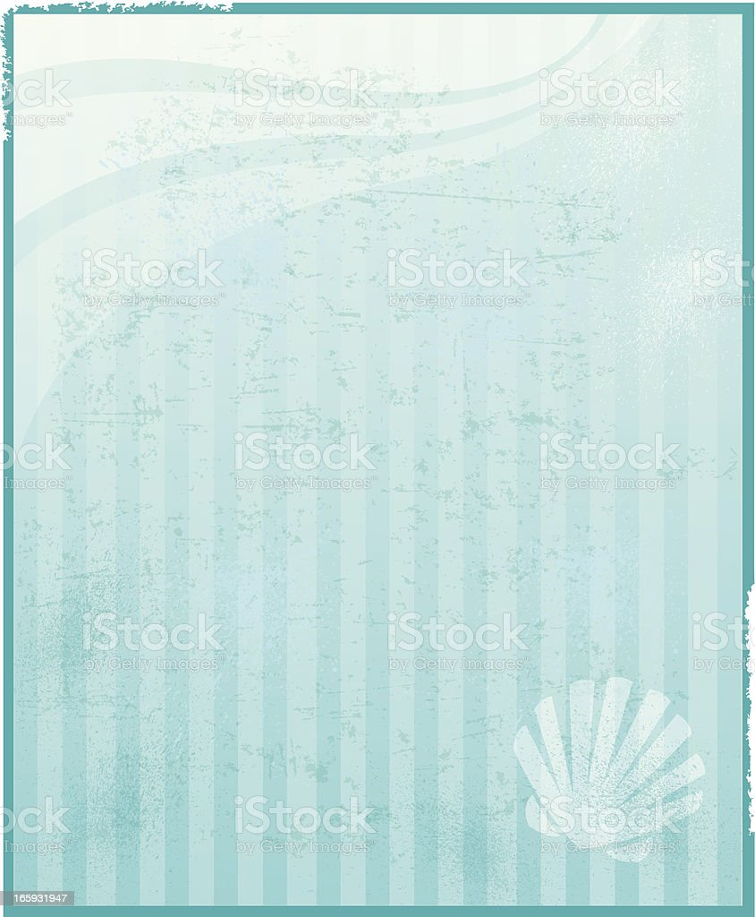Sea Shell Background - Nautical or Beach royalty-free stock vector art