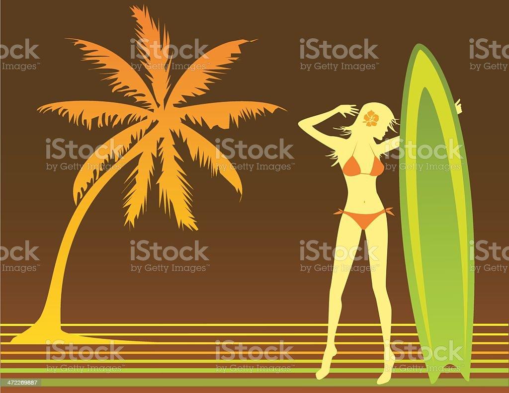 Sea surf  and sun royalty-free stock vector art