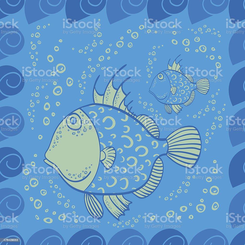 Sea Theme Fish Vector Illustration royalty-free stock vector art