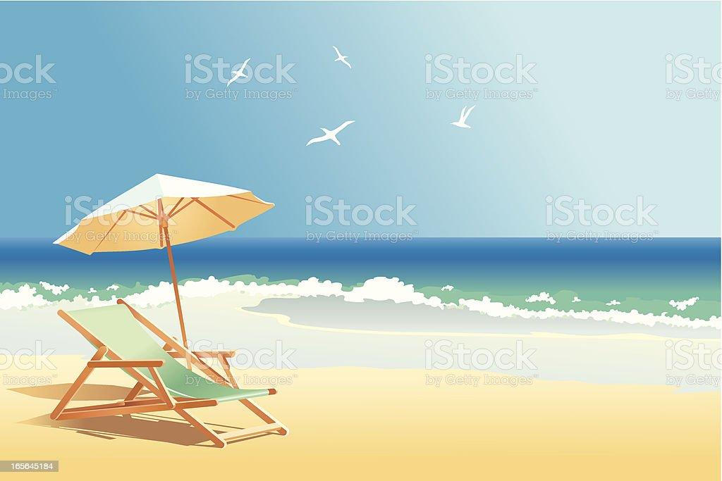 sea vector art illustration