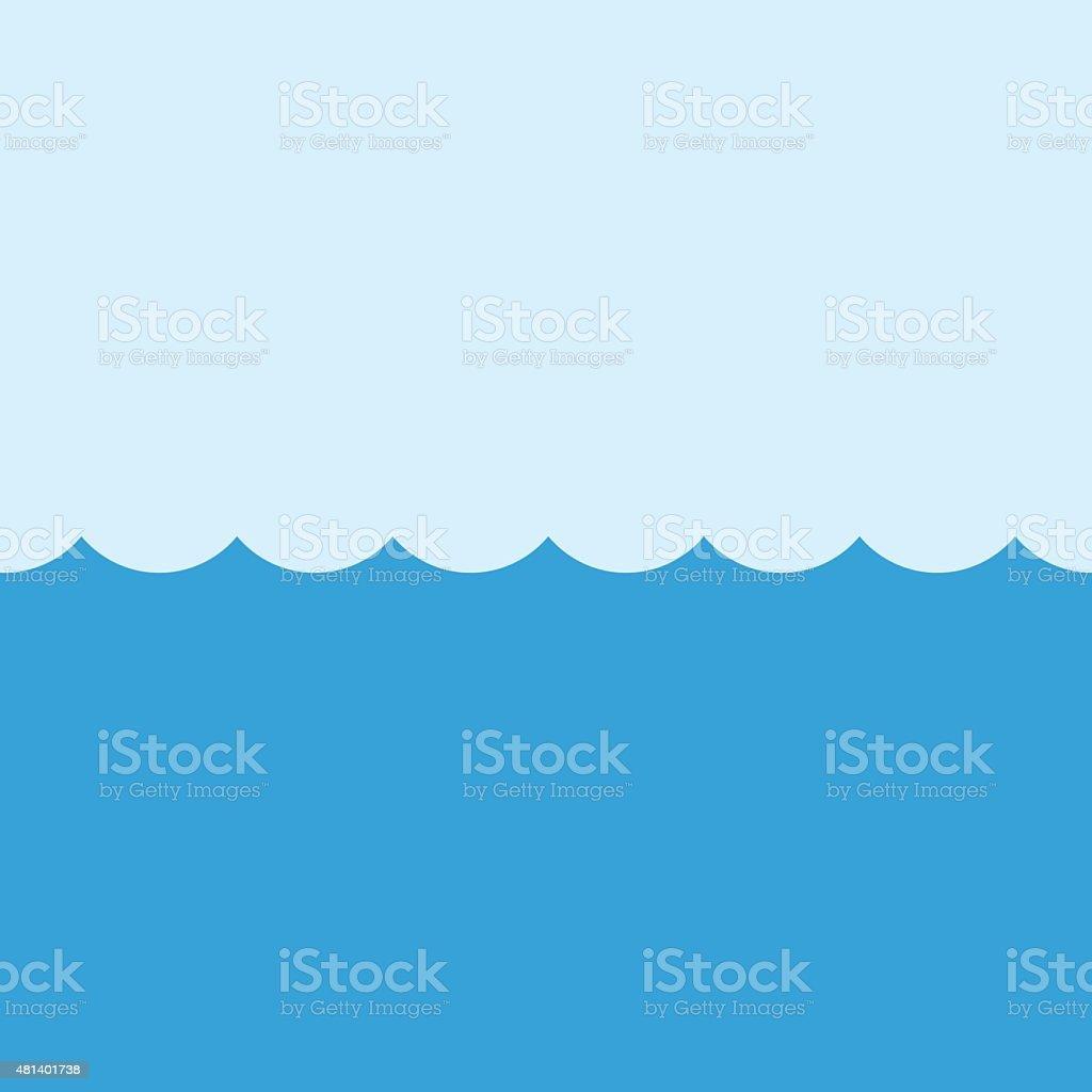 Sea vector illustration, modern minimal flat design style. Ocean symbol vector art illustration