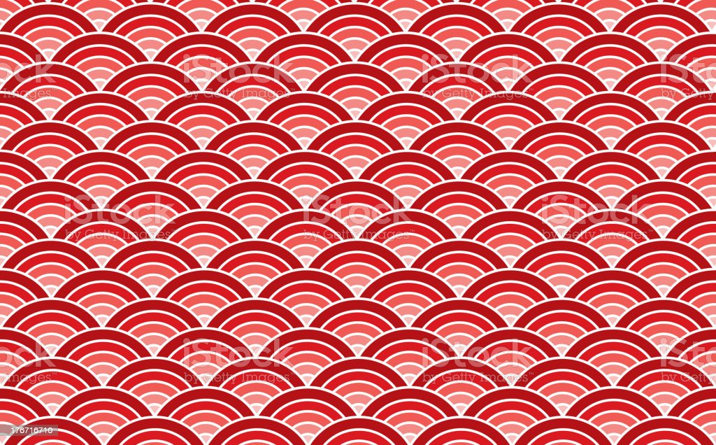 Sea wave vector art illustration