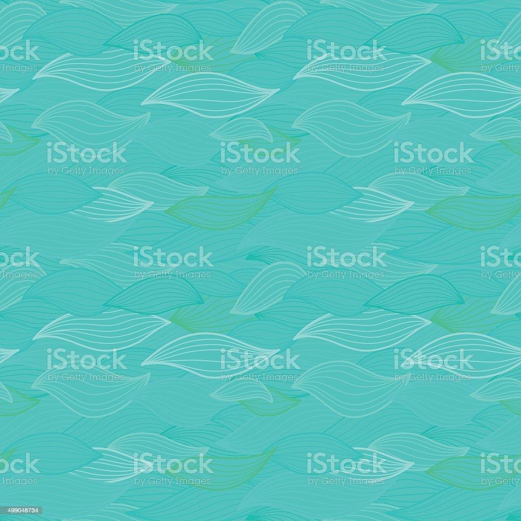 Sea waves hand drawn illustration. vector art illustration