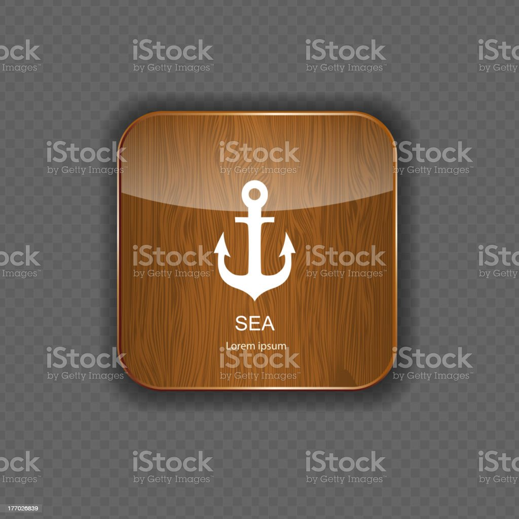 Sea wood  application icons vector illustration royalty-free stock vector art