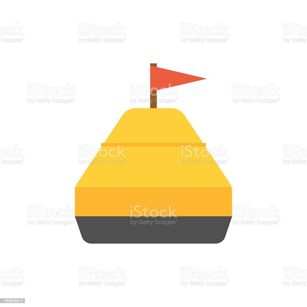 Sea Yellow Buoy vector art illustration
