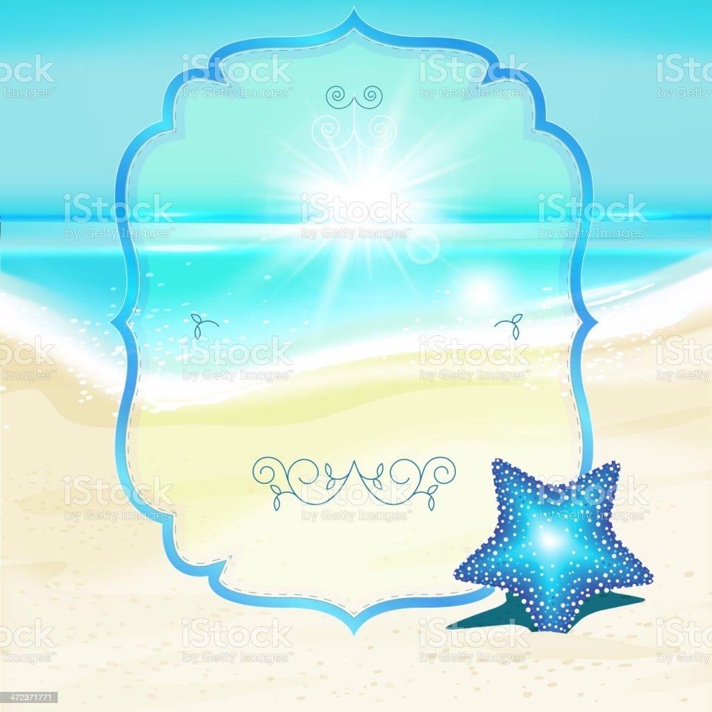 Sea_card royalty-free stock vector art