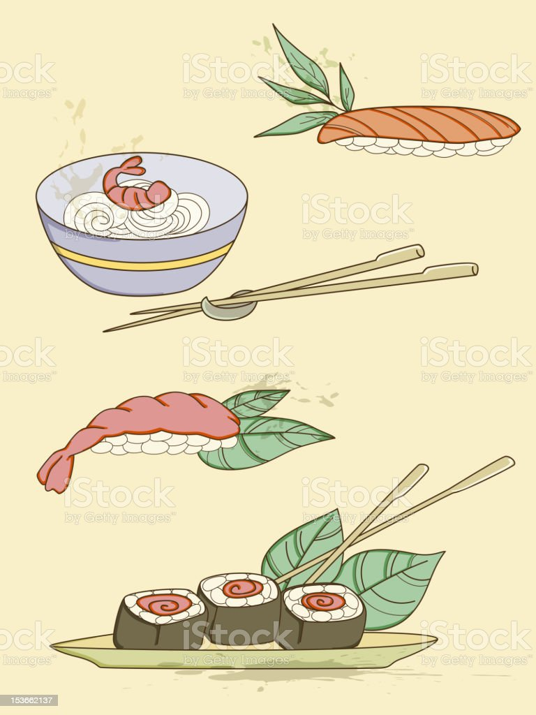 seafood icons royalty-free stock photo
