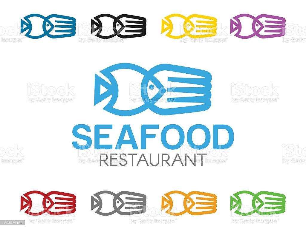 Seafood illustration vector art illustration